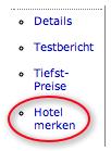 Hotel-Übersicht: So schreiben Sie ein Hotel auf Ihren Merkzettel.