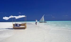 Strand des Baros Resort, Malediven